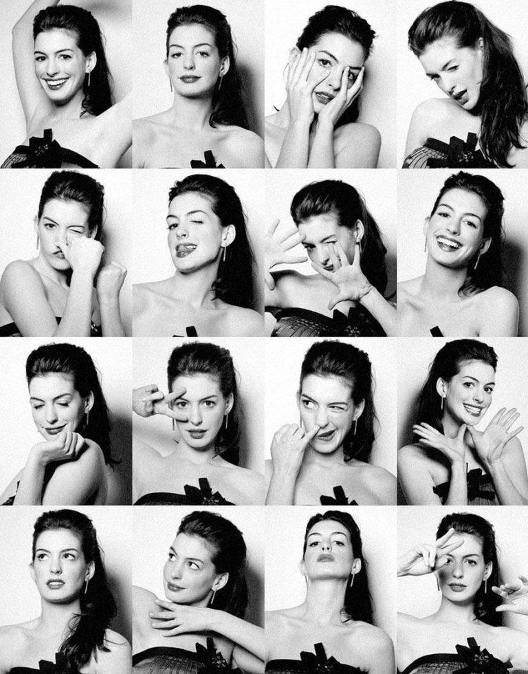 Портреты людей с эмоциями фотоколлаж