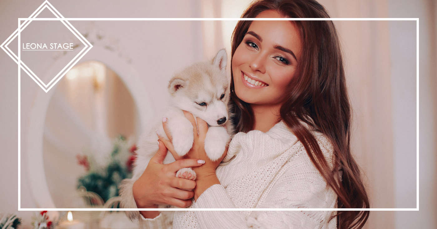 Фотосессия с щенками Хаски - Фотостудия LeonaStage